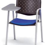 Silla de pala Modelo MARCO con pala reforzada o antivandálica tapizada con respaldo plastico