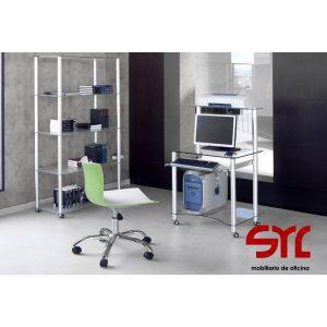 Mesa de ordenador de cristal Modelo Exit