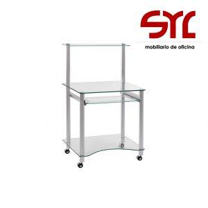 mesa de ordenador de cristal modelo exit a la venta en Muebles syl