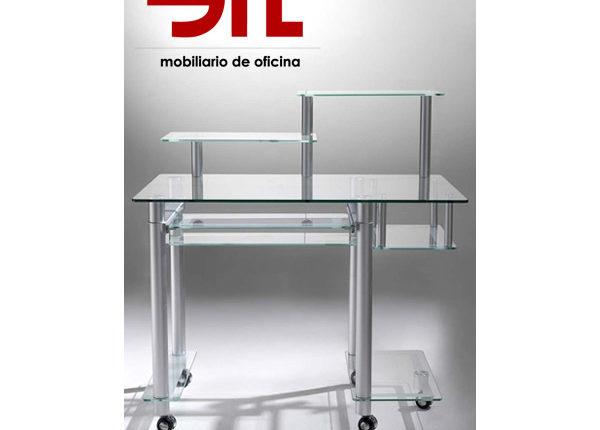 mesa de ordenador google de cristal de 100x60