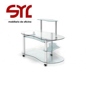 mesa de ordenador de cristal modelo net a la venta en Muebles syl asturias