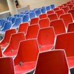 sillas viva con doble acolchado en rojo y azul