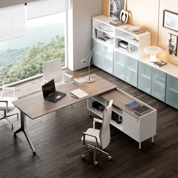 Mesa modelo maya de ismobel a la venta en muebles syl for Mobiliario modular para oficina