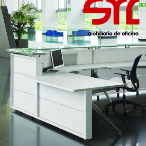 Mostrador oficina modelo public de ismobel muebles syl for Muebles de oficina gijon