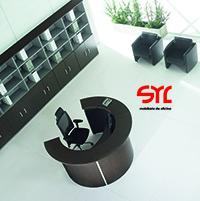 mostrador de oficina modelo rock de mobel linea a la venta en muebles syl asturias.