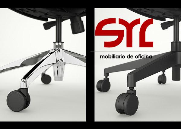 Möbel Plus De silla plus giratoria operativa de trabajo oficina muebles syl