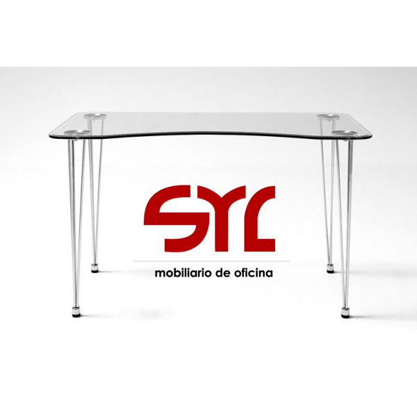 Mesa de ordenador de cristal para portatil modelo aries - Mesa de portatil ...