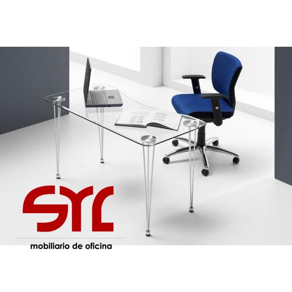 Mesa de ordenador de cristal para portatil modelo aries muebles syl - Mesa portatil ordenador ...