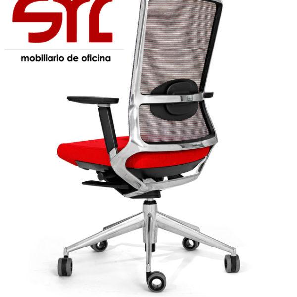 Silla de oficina Modelo TNK 500 con respaldo de malla-Muebles Syl