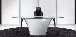 Mesa de dirección Modelo LUNA de UFFIX diseñado por PININFARINA.-0