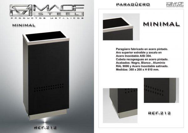 paragüero maof steel rectangular.