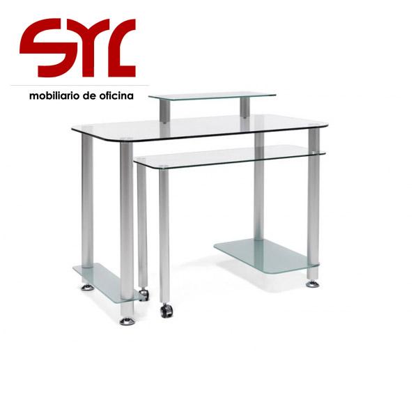mesa de ordenador de cristal oviedo gijón
