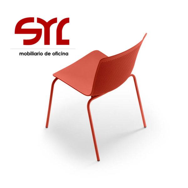 Silla modelo glove de josep llusc forma 5 muebles syl for Mobiliario de oficina asturias