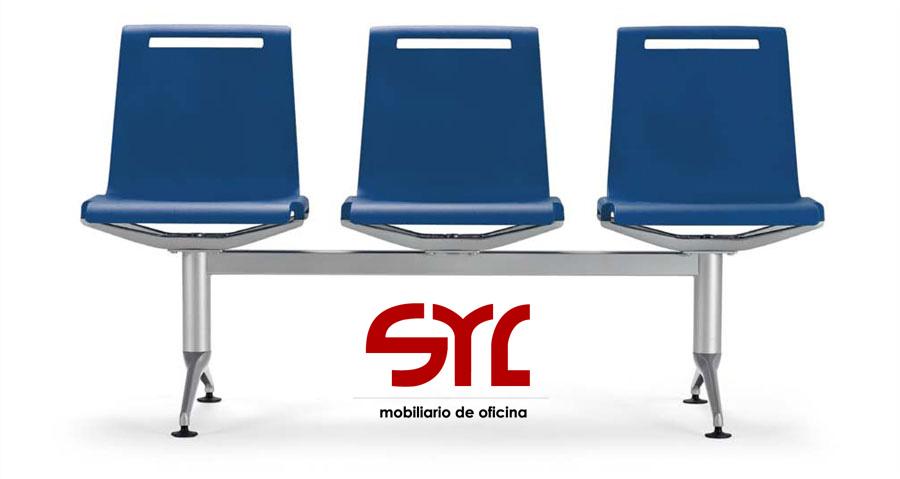 bancada mit de 3 plazas en azul actiu a la venta en muebles syl