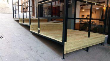 Terraza para pulperia en candas